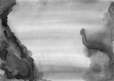 Tela in bianco e nero dell'acquerello per la collocazione del testo o come desig Fotografia Stock Libera da Diritti