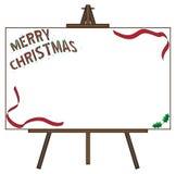 Tela in bianco gigante di Natale sul cavalletto Immagini Stock Libere da Diritti