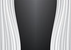 Tela blanca de la cortina en vector negro de la pared Foto de archivo libre de regalías