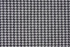 Tela blanco y negro de la verificación de Houndstooth Fotografía de archivo