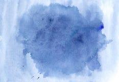 Tela blu moderna dell'illustrazione dell'acquerello Spruzzata azzurrata Templa illustrazione vettoriale
