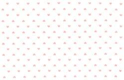Tela branca com corações vermelhos teste padrão, textura, fundo Imagem de Stock Royalty Free