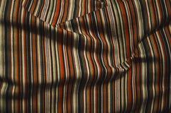 Tela Caliente-coloreada, rayada foto de archivo