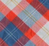 Tela Checkered foto de stock