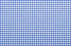 Tela checkered azul Fotos de Stock Royalty Free