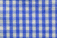 Tela checkered azul Fotos de Stock Royalty Free