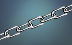 Tela cheia chain do close-up do metal Liderança no conceito do negócio ilustração royalty free