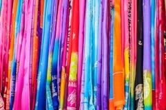 Tela colorida imagen de archivo