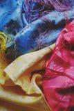 Tela colorida Imagen de archivo libre de regalías
