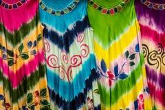 Tela colorida fotografia de stock