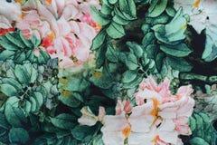 Tela colorida con la impresión floral Fotografía de archivo