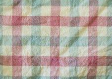Tela colorida de la tela escocesa Fotos de archivo libres de regalías
