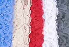 Tela colorida del cordón Foto de archivo libre de regalías