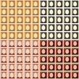 Tela colorida do teste padrão da Páscoa Foto de Stock