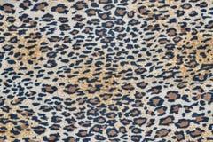 Tela com um teste padrão do leopardo foto de stock royalty free