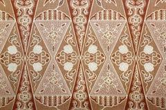 Tela con el modelo floral del batik Foto de archivo