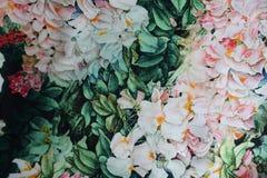 Tela con la impresión floral vibrante Imágenes de archivo libres de regalías