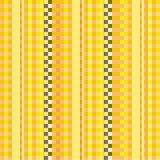 Tela con las telas a rayas amarillas stock de ilustración