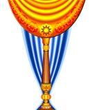 Tela da coluna ilustração do vetor