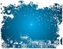 Tela da geada do inverno ilustração royalty free