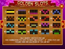 Tela da informação para o jogo dos entalhes Fotografia de Stock Royalty Free