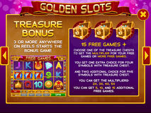 Tela da informação para o jogo dos entalhes Imagem de Stock Royalty Free