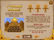 Tela da informação para o jogo dos entalhes Imagem de Stock
