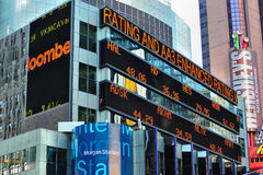 Tela da notícia do mercado de valores de acção Fotografia de Stock Royalty Free