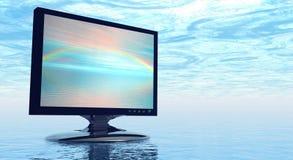 Tela da tevê com arco-íris Fotografia de Stock