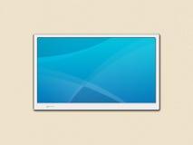 Tela da tevê do LCD ilustração royalty free