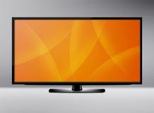 Tela da tevê do LCD Imagens de Stock Royalty Free