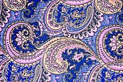 Tela da textura da flor retro e do paisley Fotografia de Stock