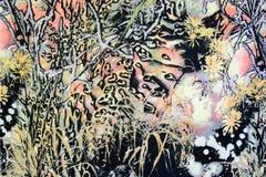 Tela da textura de florestas tropicais Fotografia de Stock