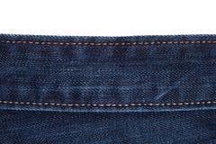 A tela das calças de brim é grande Foto de Stock Royalty Free