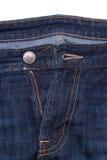 A tela das calças de brim é grande Foto de Stock