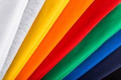 Tela de algodón colorida Fotos de archivo libres de regalías