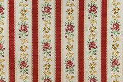 Tela de algodón con las rosas Fotografía de archivo libre de regalías