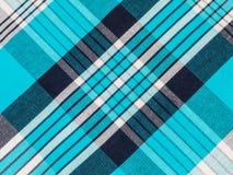 Tela de algodón de la tela escocesa de tartán Fotos de archivo libres de regalías