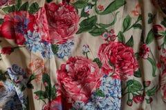 Tela de algodón multicolora Foto de archivo libre de regalías