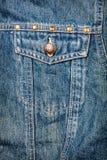 Tela de calças de ganga com bolso Foto de Stock