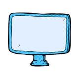 tela de computador cômico dos desenhos animados Fotos de Stock