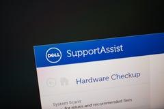 Tela de Digitas com hardware do software da assistência do apoio Foto de Stock Royalty Free