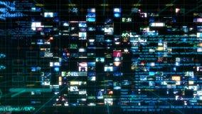 Tela de Digitas dos dados do computador de relação da tecnologia ilustração royalty free