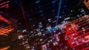 Tela de Digitas dos dados do computador de relação da tecnologia ilustração stock