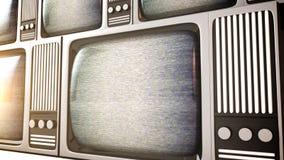 Tela de exposição retro do ruído do equipamento de televisão Fotografia de Stock Royalty Free
