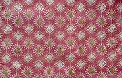 Tela de Indain con bordado floral Imagenes de archivo