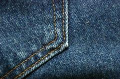 Tela de Jean o del dril de algodón Fotografía de archivo