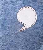 Tela de la burbuja en Jean Imagen de archivo libre de regalías