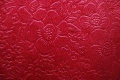 Tela de la cereza con diseños florales Imágenes de archivo libres de regalías
