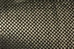 Tela de la fibra del carbón con el fondo de la resina de epoxy Fotografía de archivo